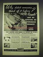 1940 Zenith Safety Foot Control Auto Radio Ad