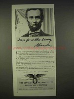 1940 Lincoln National Life Insurance Ad, For us Living