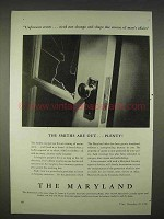 1940 The Maryland Insurance Ad - Smiths Are Out Plenty