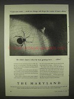 1940 The Maryland Insurance Ad - He Didn't Know Either