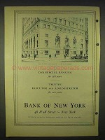 1940 Bank of New York Ad - Building 48 Wall Street