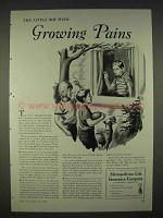 1940 Metropolitan Life Insurance Ad - Growing Pains