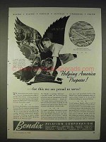 1940 Bendix Aviation Ad - Helping America Prepare