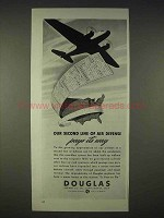 1940 Douglas Aircraft Ad - Second Line of Air Defense