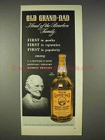 1940 Old Grand-Dad Bourbon Ad - Head of the Family