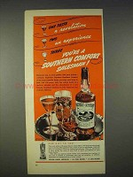 1940 Southern Comfort Ad - One Taste a Revelation