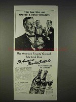 1940 Martini & Rossi Vermouth Ad - You Can Still Get