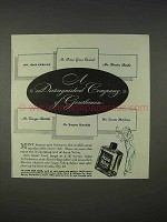 1940 Aqua Velva After Shave Ad - Distinguished Company