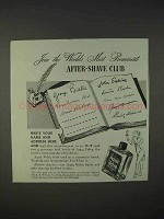 1940 Aqua Velva After Shave Ad - Most Prominent Club