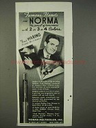 1940 Norma Pencil Ad - Fred Waring - Famous Hands