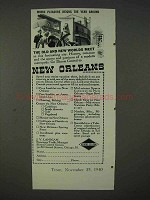 1940 New Orleans Tourism Ad - Pleasure Reigns