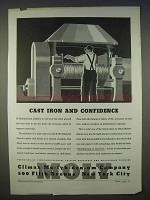 1939 Climax Molybdenum Ad - Cast Iron and Confidence