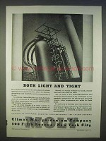 1939 Climax Molybdenum Ad - Both Light and Tight