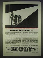 1939 Climax Molybdenum Ad - Meeting The Unusual