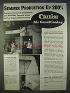 1939 Carrier Air Conditioning Ad - Summer Production Up