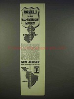 1939 New Jersey Ad - Route 1 to The All-American Market