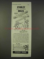 1939 Stanley Tools No. 266 Zig-Zag Rule Ad