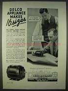1938 Delco Split Phase Motor Ad - Makes 16 Sizes