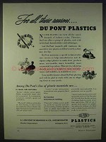 1938 Du Pont Plastics Ad - For All These Reasons