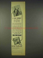 1938 Michigan Tourism Ad - A New Sport