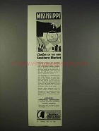 1938 Mississippi Industrial Commission Ad - New Market