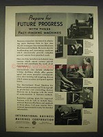 1938 IBM Ad - Electric Bookeeping, Ticketograph +