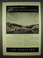 1938 The Maryland Casualty Insurance Ad - Taking Care