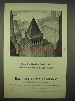 1938 Bankers Trust Company Ad - Complete Service