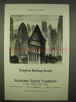 1938 Bankers Trust Company Ad - Complete Banking Service