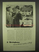 1938 Westinghouse Electric Ad - House Horsepower