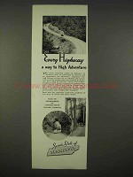 1938 Tennessee Tourism Ad - Highway to Adventure
