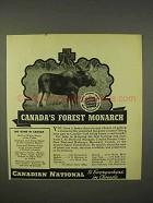 1938 Canadian National Railway Ad - Forest Monarch