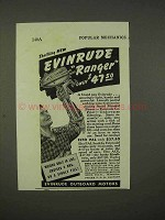 1938 Evinrude Ranger Outboard Motor Ad