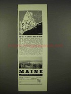 1937 Maine Tourism Ad - One Way to Spend a Week