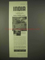 1937 India Tourism Ad - Land of Fabled Luxury