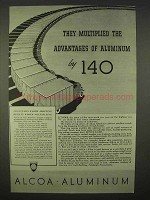 1937 Alcoa Aluminum Ad - They Multiplied Advantages