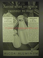 1937 Alcoa Aluminum Ad - Made Friendly To Food