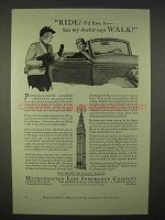 1937 Metropolitan Life Insurance Ad - Doctor Says Walk