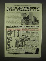 1936 Delta Circular Saw Attachment Ad - Tenoning Safe