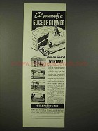 1936 Greyhound Bus Ad - Cut Yourself Slice of Summer
