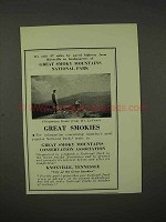 1936 Knoxville Tennessee Tourism Ad - Great Smokies