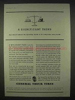 1935 General Truck Tires Ad - A Significant Trend
