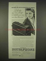 1935 Dictaphone B-12 Ad - New Voice Clarity