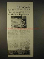 1935 Monroe Calculator Ad - RCA Adds Listing Machines