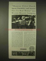 1935 Monroe Calculator Ad - Weston Biscuit Company
