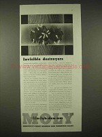 1935 Climax Molybdenum Ad - Invisible Destroyers