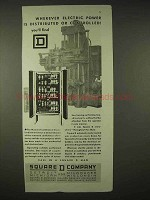 1935 Square D Company Ad - Wherever Electric Power