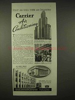 1935 Carrier Air Conditioning Ad - First An Idea