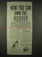 1935 Hoover Vacuum Cleaner Ad - Now You Can Own