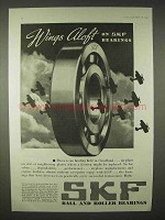 1935 SKF Ball and Roller Bearings Ad - Wings Aloft
